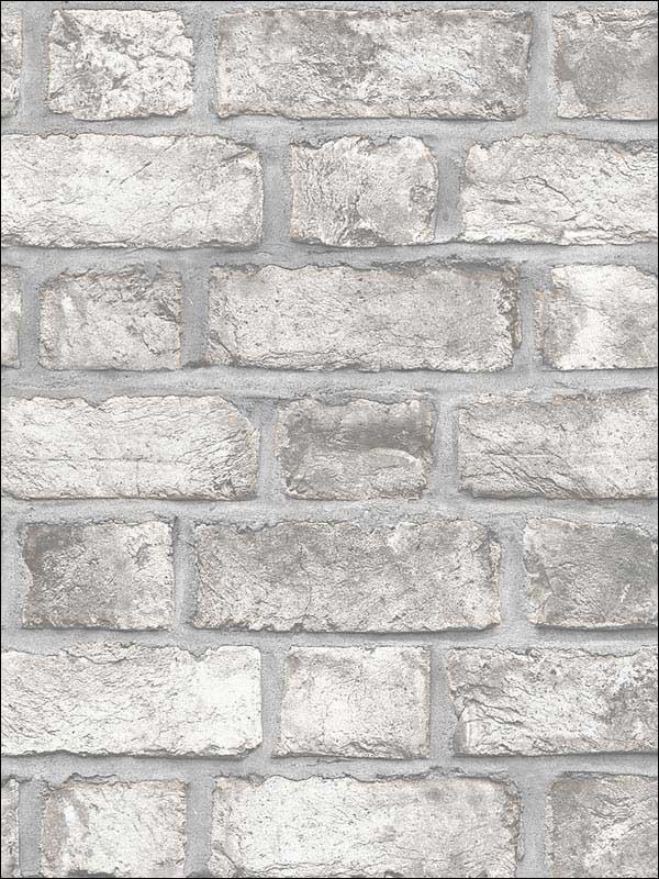Farmhouse Brick Grey Dove Charcoal Black Wallpaper Wtg 214846