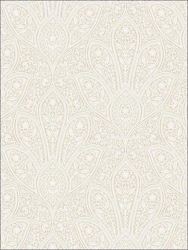 Distressed Paisley Beige Cream Swiss Coffee Wallpaper Wtg 214876