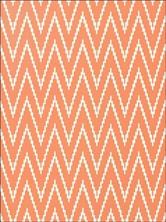 Kasari Ikat Terra Cotta Wallpaper 5005994 by Schumacher Wallpaper for sale at Wallpapers To Go