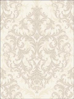 Scroll Design Medallion Wallpaper HT70708 by Seabrook Wallpaper for sale at Wallpapers To Go