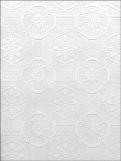 Reuben Ornate Tiles Paintable Wallpaper 49799422 by Brewster Wallpaper for sale at Wallpapers To Go