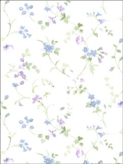 Floral Trail Wallpaper PR33823 by Norwall Wallpaper for sale at Wallpapers To Go
