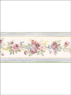 Roses Border PR79649 by Norwall Wallpaper for sale at Wallpapers To Go
