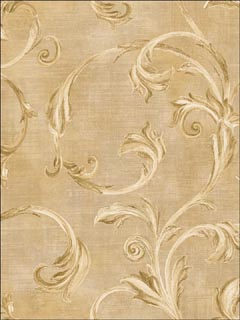 Leaf Scroll Wallpaper TR20701 by Seabrook Wallpaper for sale at Wallpapers To Go