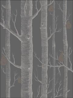 Cole And Son 955031 Woods And Pears Gilver Black Wallpaper