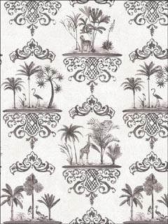 Rousseau Charcoal Wallpaper 999039 by Cole and Son Wallpaper for sale at Wallpapers To Go