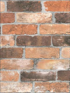 Reclaimed Bricks Orange Rustic Wallpaper 270122300 by A Street Prints Wallpaper for sale at Wallpapers To Go