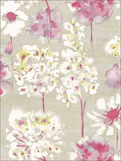 Marilla Pink Watercolor Floral Wallpaper 2656004019 by A Street Prints Wallpaper for sale at Wallpapers To Go