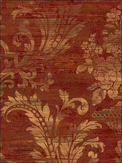 Patton Norwall Sm30383 Silk Look Damask Wallpaper