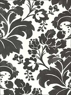 Perigee Cream Damask Wallpaper 356102 by Kennenth James Wallpaper for sale at Wallpapers To Go