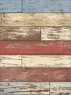 Levi Red Scrap Wood Wallpaper 270422319 by Brewster Wallpaper for sale at Wallpapers To Go