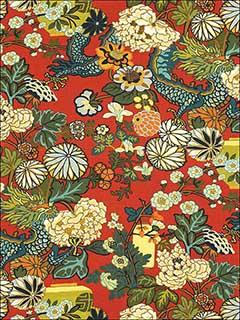 Chiang Mai Dragon Lacquer Fabric 173271 By Schumacher Fabrics