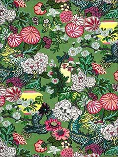 Chiang Mai Dragon Jade Fabric 173277 By Schumacher Fabrics