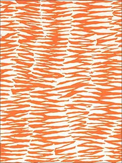Zebra Print Orange Fabric 174261 by Schumacher Fabrics for sale at Wallpapers To Go