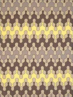 Ishtar Grey and Lemon Fabric 5007502 by Vervain Fabrics for sale at Wallpapers To Go