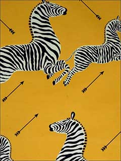 Zebras Yellow Wallpaper WP81388M006 by Scalamandre Wallpaper for sale at Wallpapers To Go
