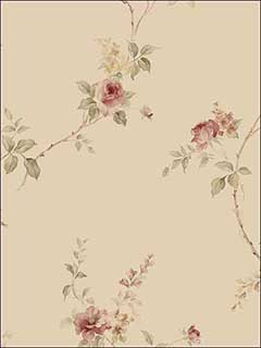 Roses Floral Trail Wallpaper IM36400 by Norwall Wallpaper for sale at Wallpapers To Go