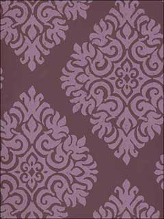 French Garden Damask Two Toned Purple Wallpaper SD129 by Astek Wallpaper for sale at Wallpapers To Go