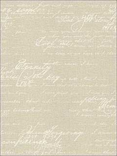 Nouvel Beige Script Wallpaper 2773449563 by Advantage Wallpaper for sale at Wallpapers To Go