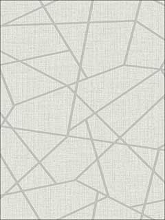 Heath Silver Geometric Linen Wallpaper 2765BW40308 by Kenneth James Wallpaper for sale at Wallpapers To Go