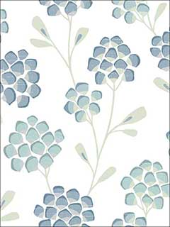 Aqua Scandi Flora Wallpaper 278524800 by A Street Prints Wallpaper for sale at Wallpapers To Go