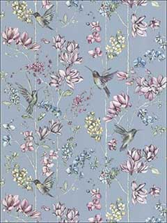 Charm Duck Egg Pink Wallpaper 12391 by Sancar Wallpaper for sale at Wallpapers To Go