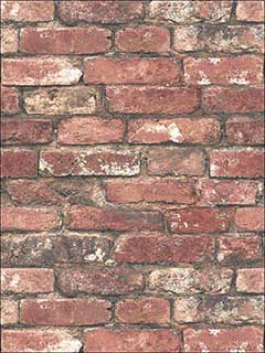 Loft Red Brick Wallpaper FD23287 by Brewster Wallpaper for sale at Wallpapers To Go