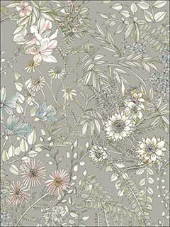 Full Bloom Beige Floral Wallpaper 282112903 by A Street Prints Wallpaper for sale at Wallpapers To Go