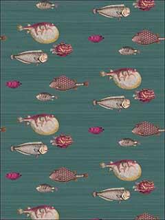 Cole And Son 11412024 Acquario Viridian Wallpaper