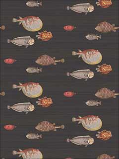 Cole And Son 9710048 Acquario Black Multi Wallpaper