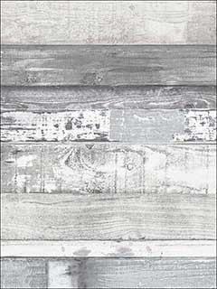 Patton Norwall Fh37554 Beachwood White Blue Grey Dove Wallpaper