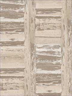 Patton Norwall Fh37560 Shutter Brown Beige Wallpaper