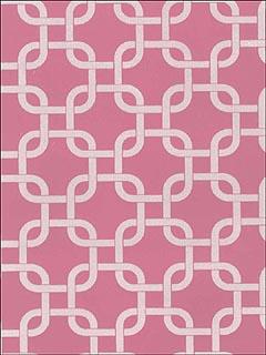 Astek Vc0810 White Velvet Abstract On Hot Pink Wallpaper